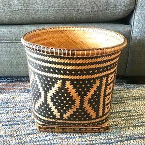 Large Abayomi WOVEN wicker basket storage bin